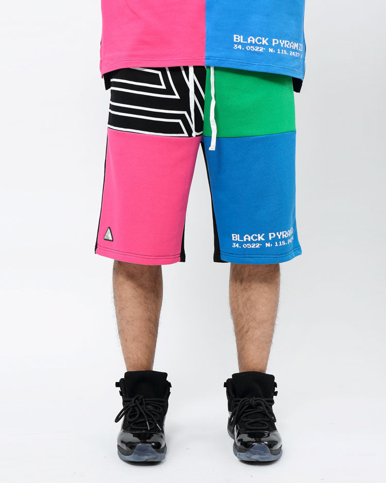 BIG AND TALL COLOR PALETTE SHORTS-COLOR: BLACK