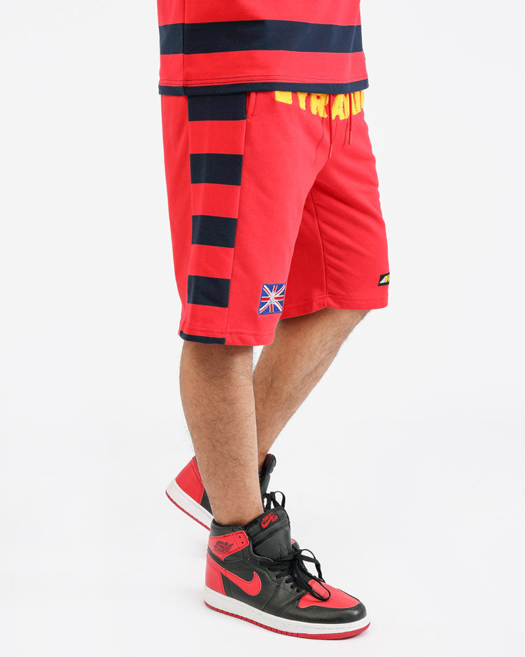 GAME STRIPE SHORT-COLOR: RED