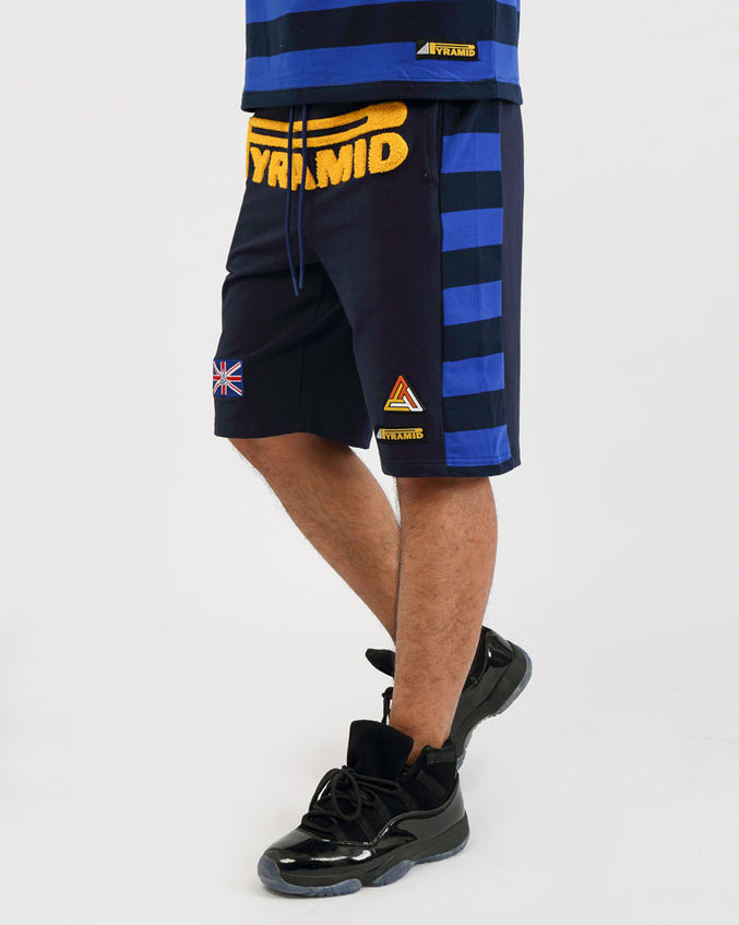 GAME STRIPE SHORT-COLOR: ROYAL BLUE