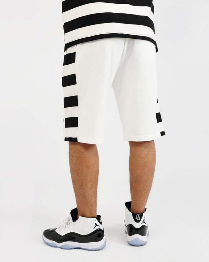 GAME STRIPE SHORT-COLOR: WHITE