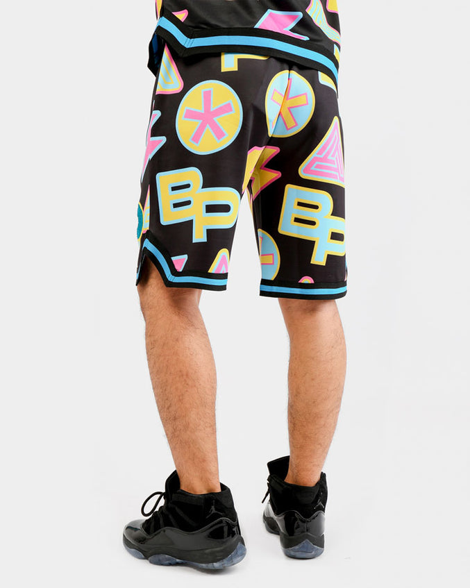 PASTEL MONOGRAM SHORT-COLOR: BLACK