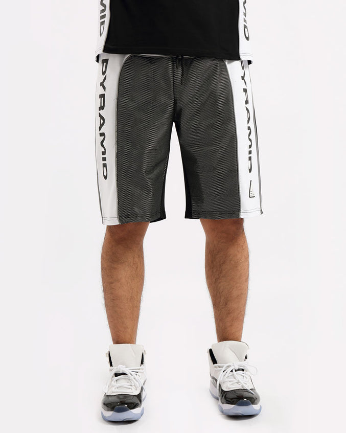 BIG AND TALL USA REFLECTIVE SHORT-COLOR: BLACK