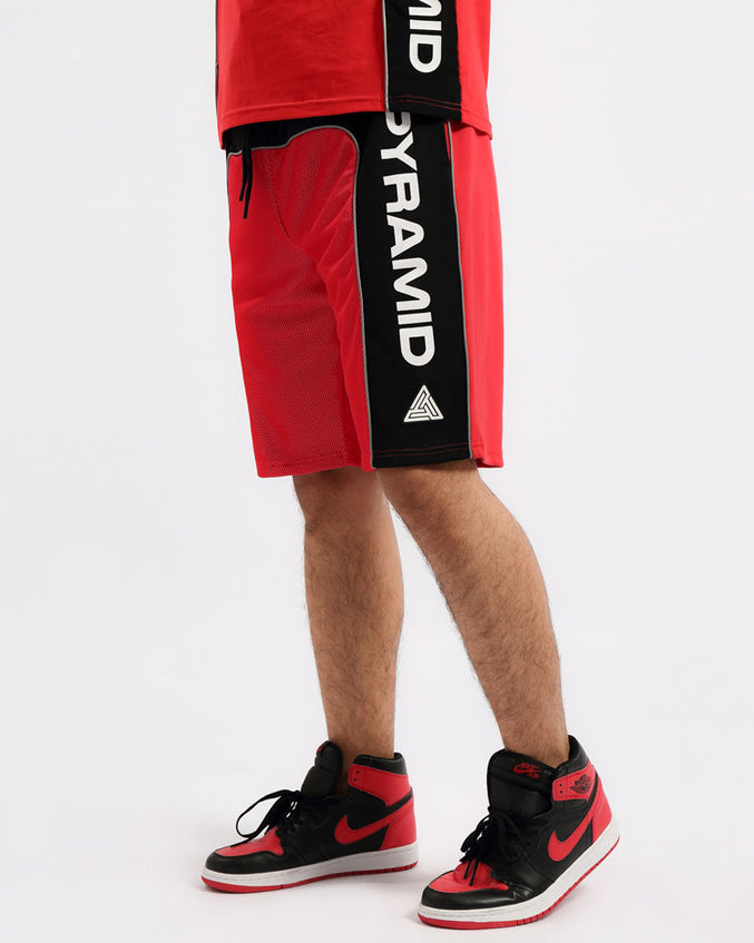USA REFLECTIVE SHORT-COLOR: RED