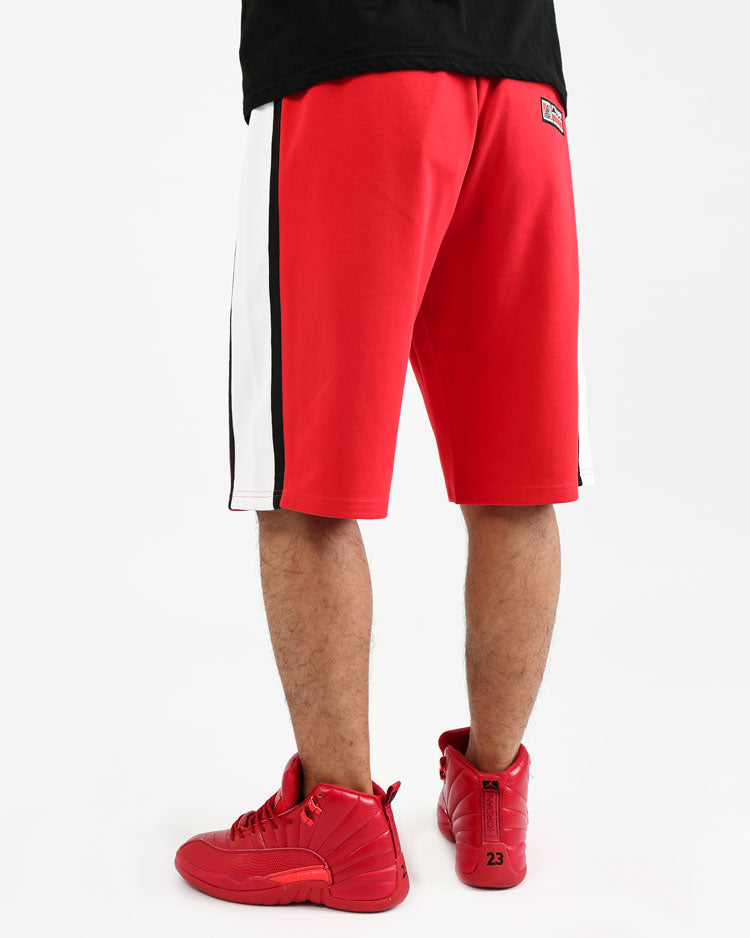 COLLEGE SPORT SHORTS-COLOR: RED