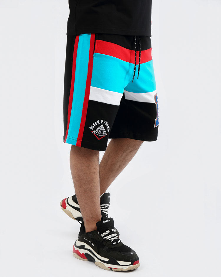 COLLEGE HOME SHORTS-COLOR: BLACK