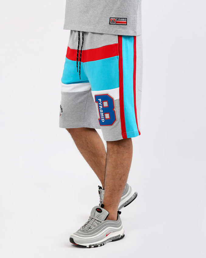 COLLEGE HOME SHORTS-COLOR: HEATHER GRAY