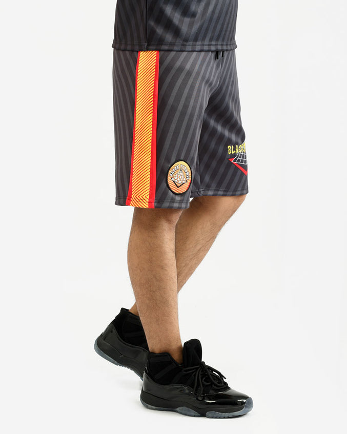 PSYCHEDELIC LOGO SHORTS-COLOR: BLACK