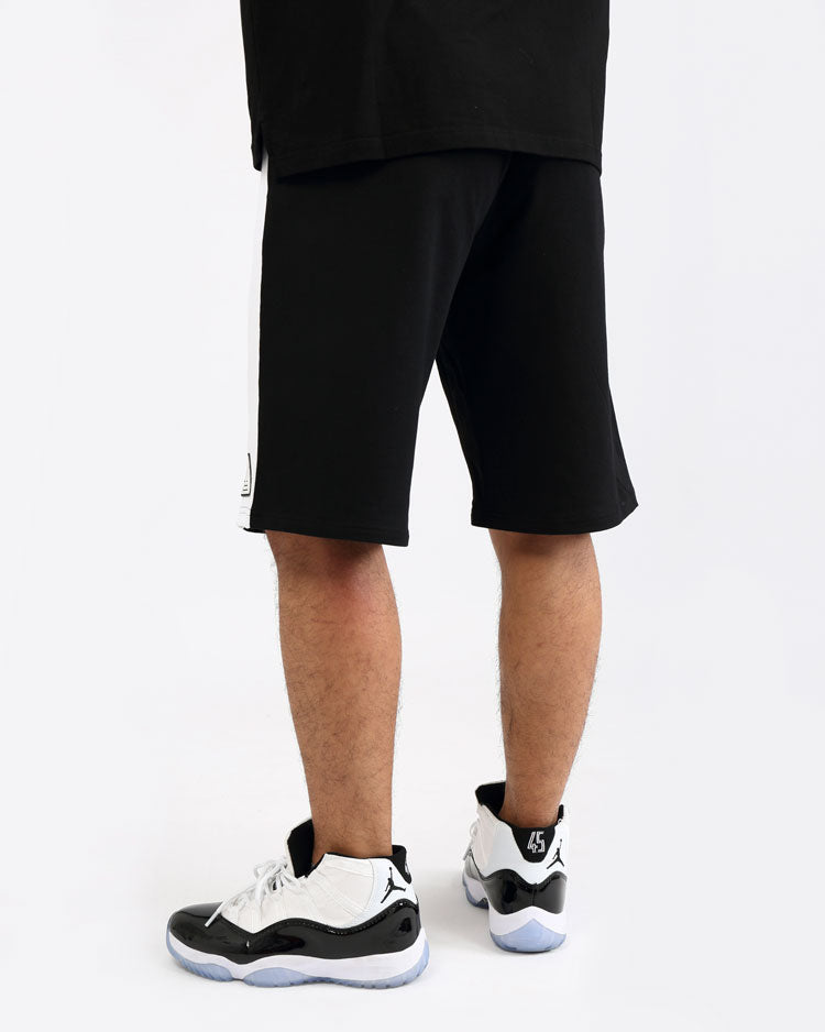 BIG AND TALL CLEAN BLOCK SHORT-COLOR: BLACK