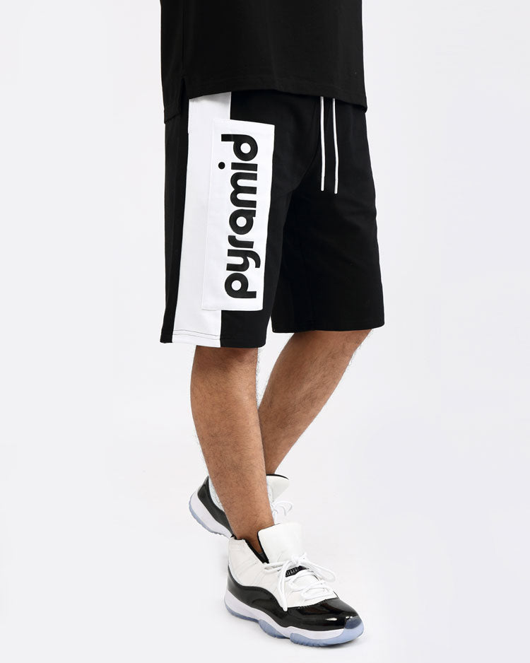 CLEAN BLOCK SHORTS-COLOR: BLACK