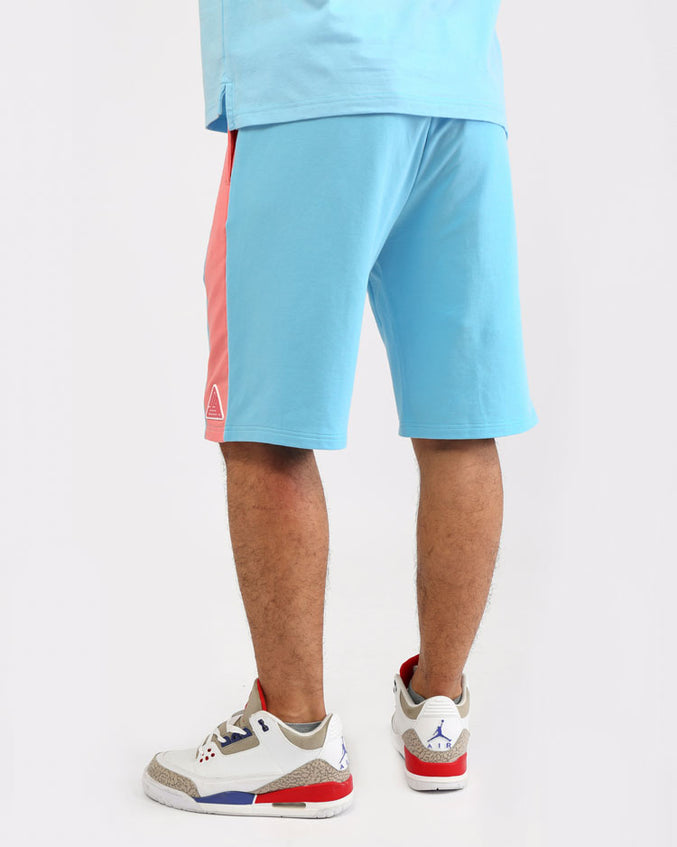 BIG AND TALL CLEAN BLOCK SHORT-COLOR: BLUE
