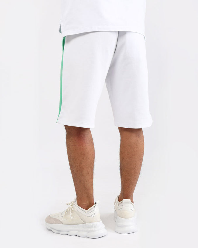 BIG AND TALL CLEAN BLOCK SHORT-COLOR: WHITE