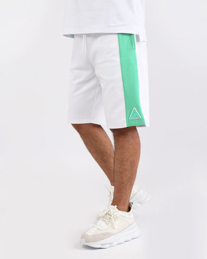CLEAN BLOCK SHORTS-COLOR: WHITE