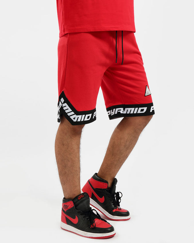 BP CLEAN LOGO SHORT-COLOR: RED