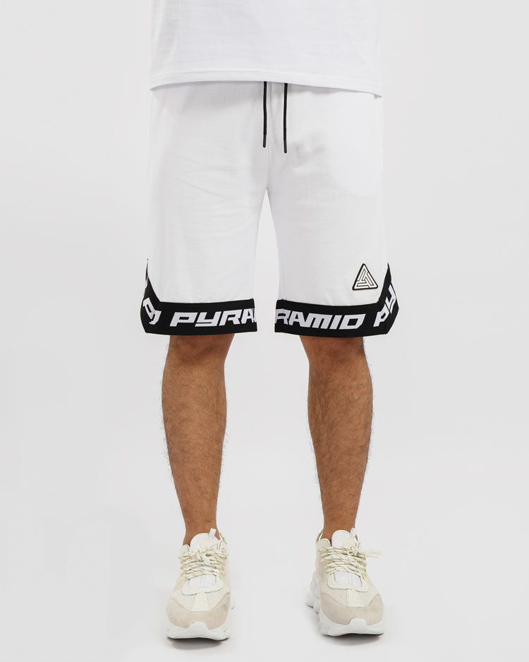 BP CLEAN LOGO SHORT-COLOR: WHITE