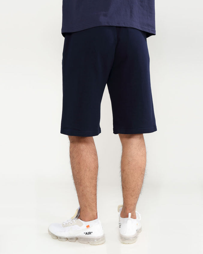 CORE 3D RUBBER PATCH SHORTS-COLOR: NAVY