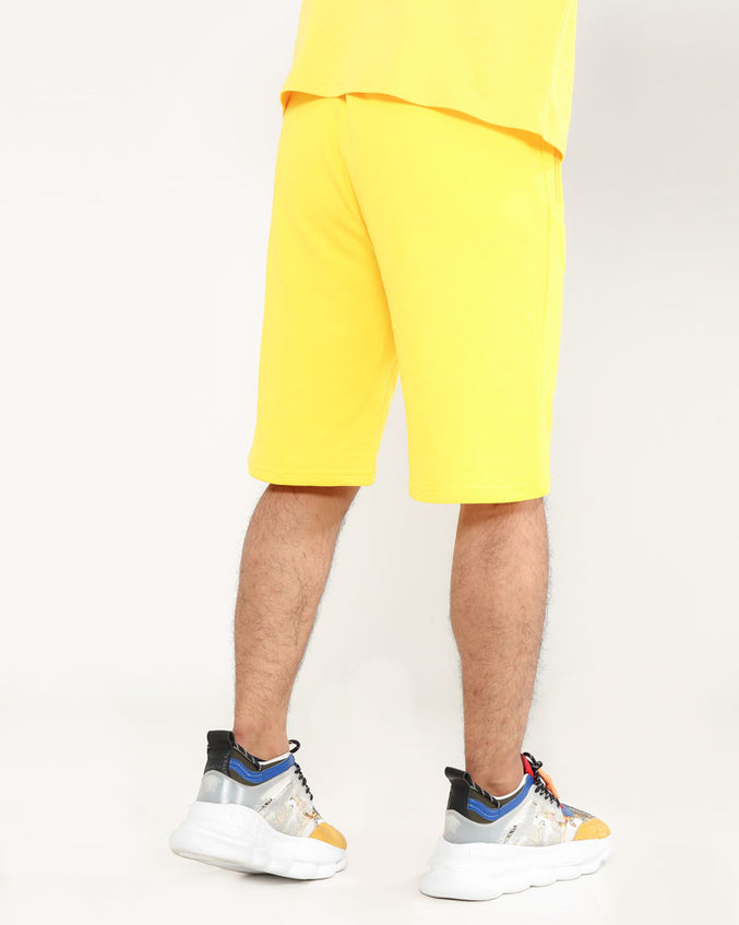 CORE 3D RUBBER PATCH SHORTS-COLOR:  YELLOW