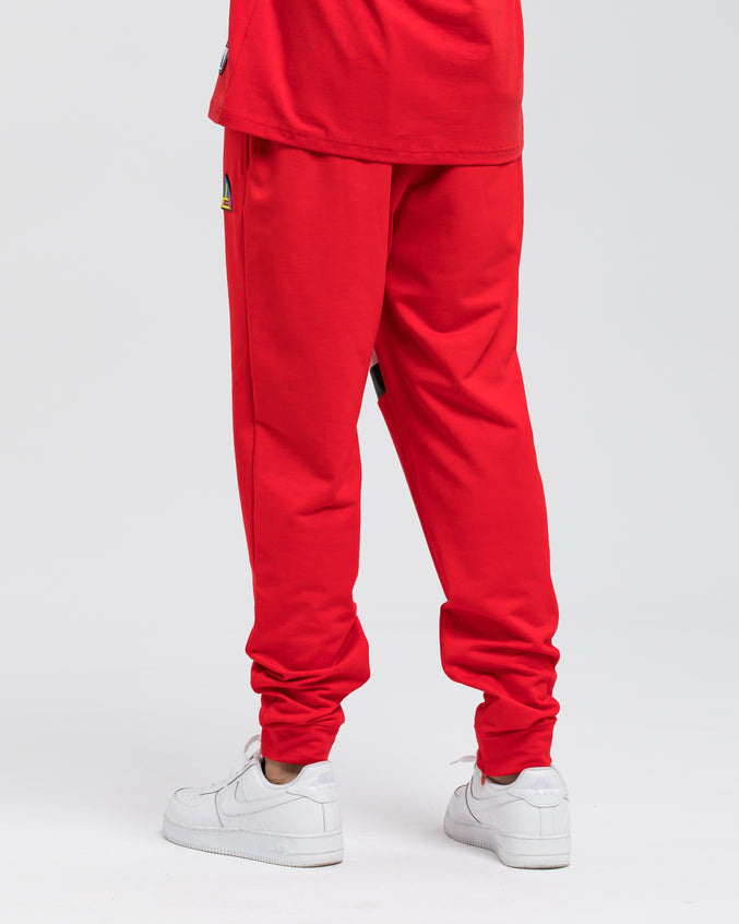 Black Pyramid Pant - Color: Red