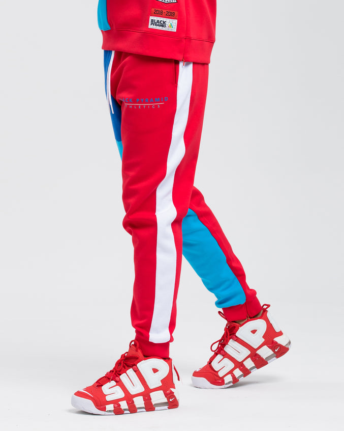 BP Athletic Color Track Pant - Color: Red