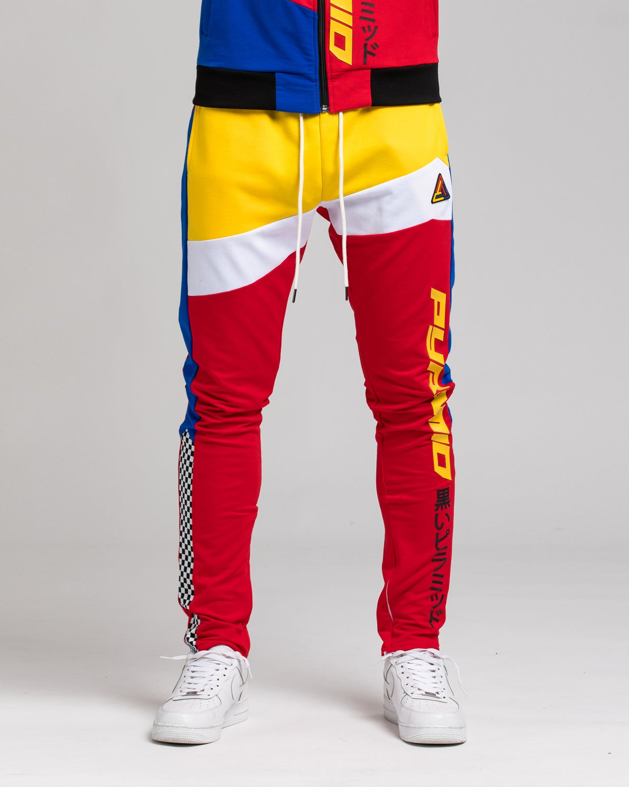 Pyramid ColorBlock Track Pant - Color: RED