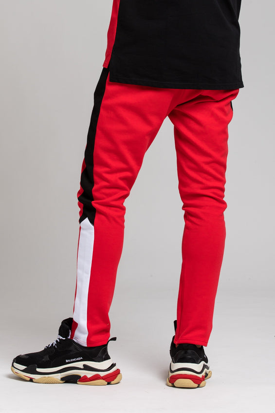 BP Cut and Sew Track Pant - Color: RED