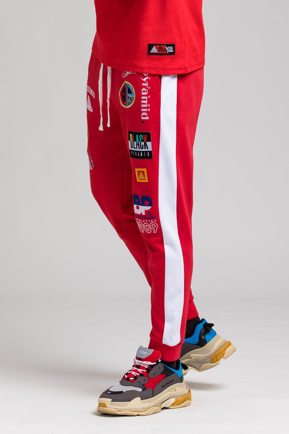 Future Patch Track Pant - Color: RED