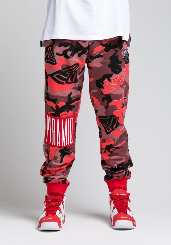 Camo Pyramid Pant - Color: RED