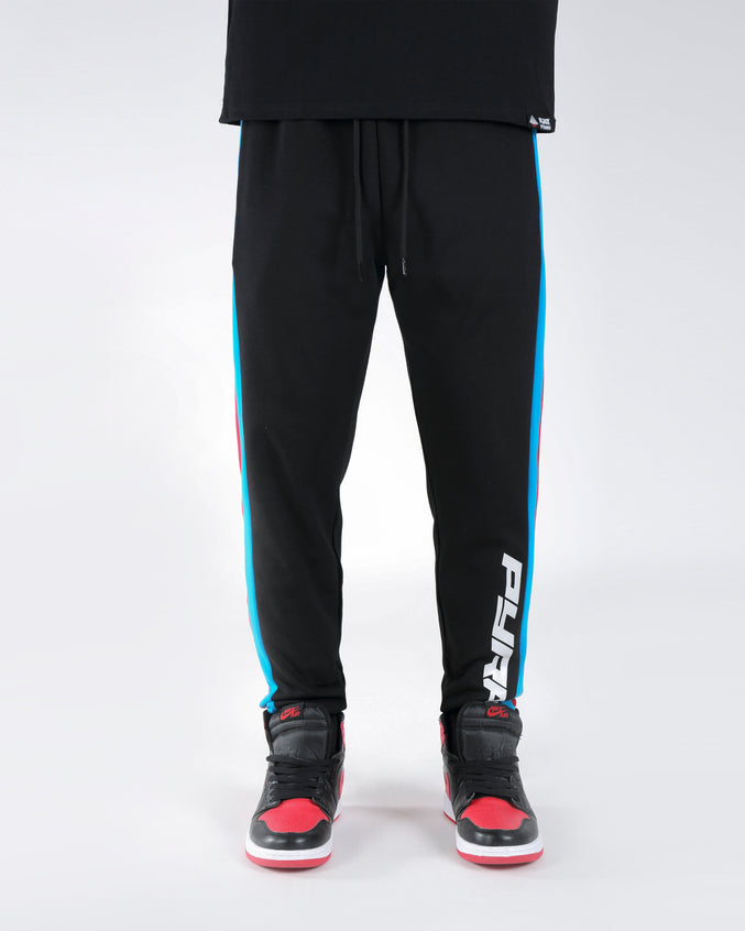 2 STRIPE TRACK PANT - COLOR: BLACK