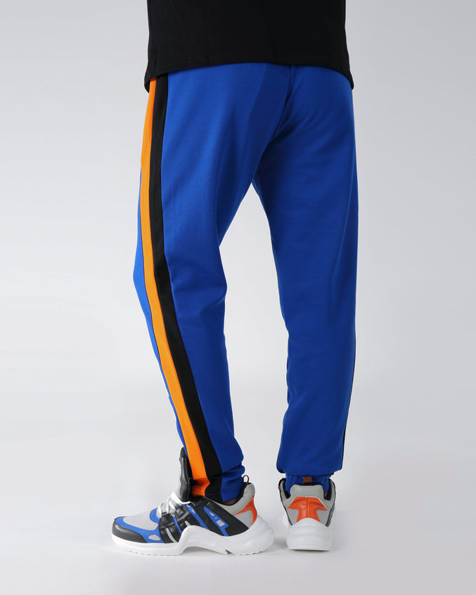 2 STRIPE TRACK PANT - COLOR: BLUE