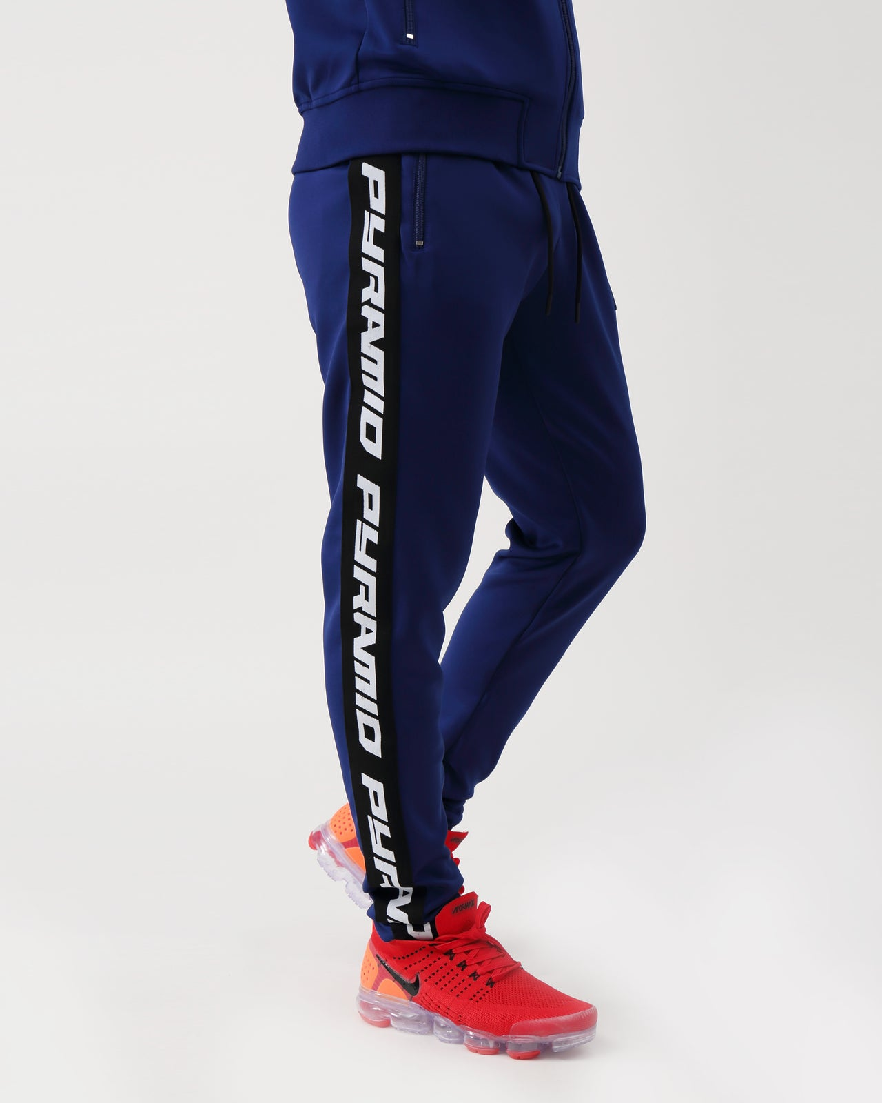 Pyramid Taping Track Pant - Color: NAVY
