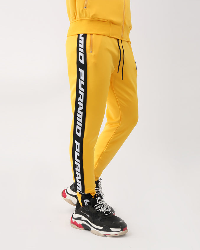 Pyramid Taping Track Pant - Color: Yellow