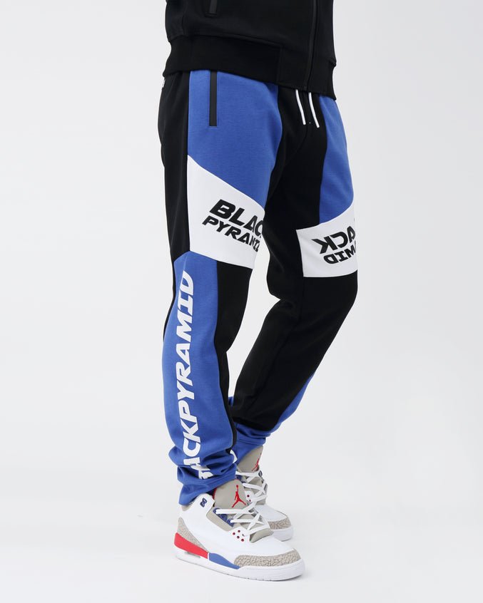 Moto Quad Track Joggers - Color: BLUE