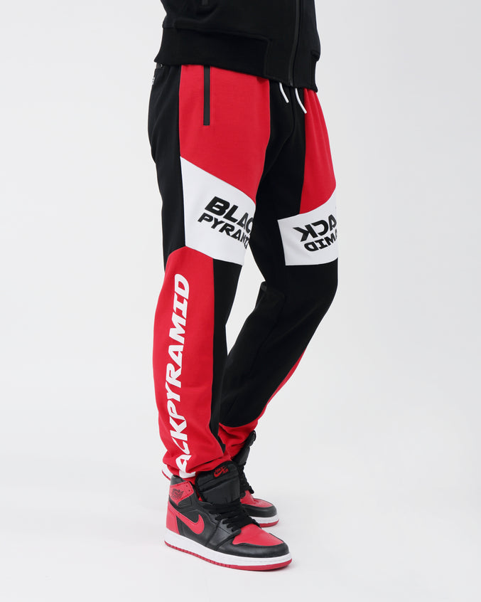 Moto Quad Track Joggers - Color: RED