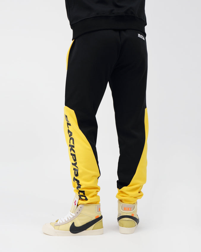 Moto Quad Track Joggers - Color: YELLOW