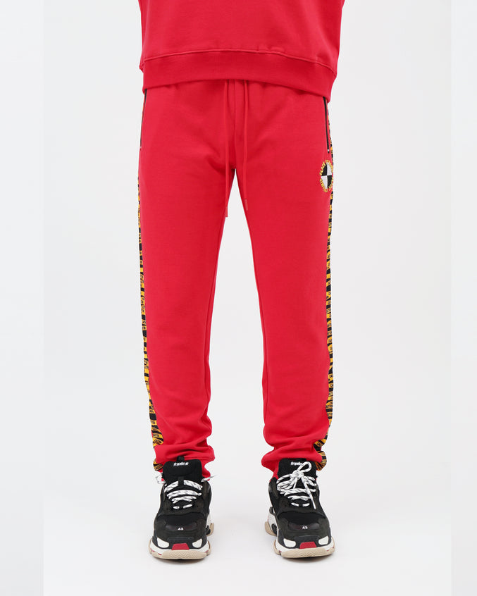 Hazard Tape Logo Track Pant - Color: RED