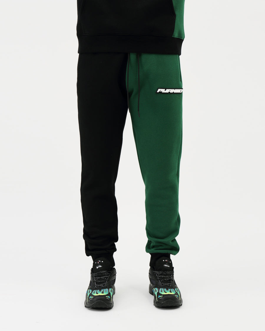 Split Offset Logo Safari Pant