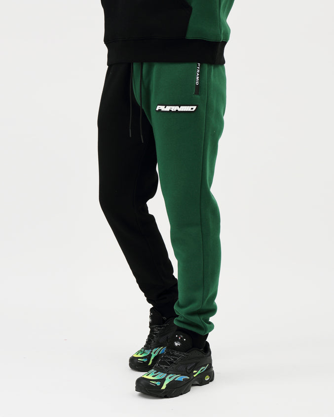 Split Offset Logo Safari Pant - Color: MULTI COLOR