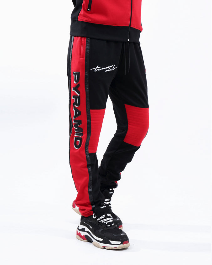 TEAM OHB CRIMSON TRACK PANT - Color: Red