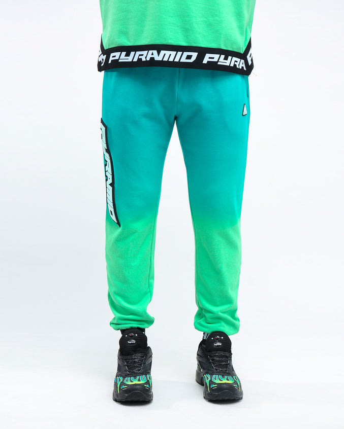 DIP DYE PASTEL PANT - Color: GREEN