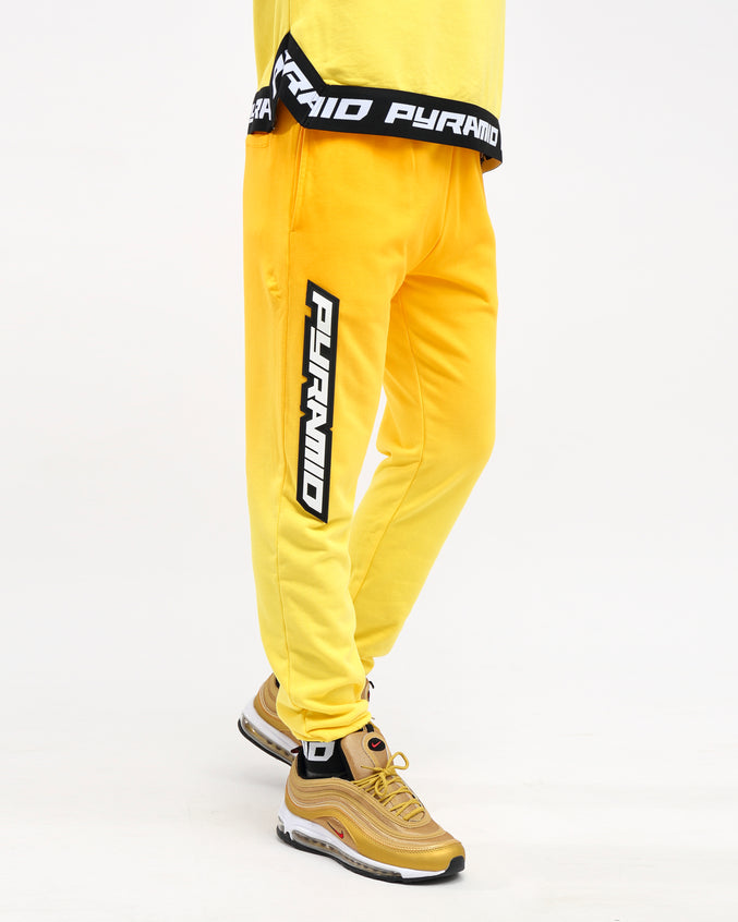 DIP DYE PASTEL PANT - Color: YELLOW