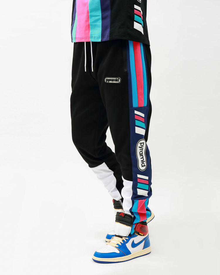 TEAM OHB STRIPE PANT-COLOR: BLACK