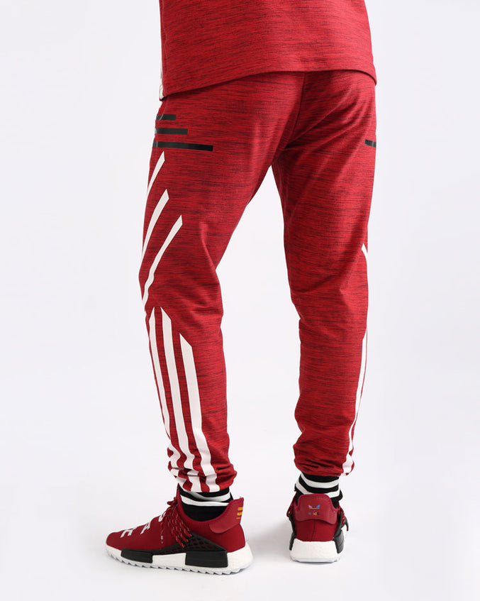 BLACK CYBER PANTS-COLOR: RED