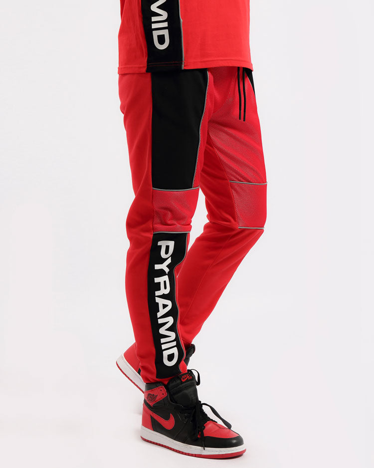 BIG AND TALL USA REFLECTIVE PANT-COLOR: RED