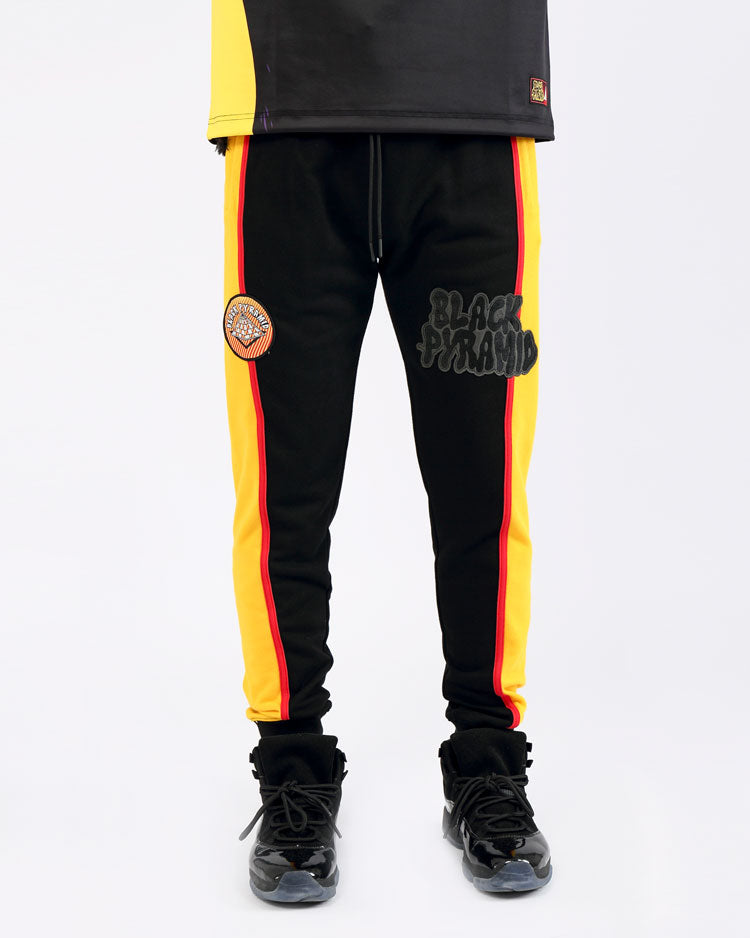 PSYCHEDELIC TRACK PANTS-COLOR: BLACK