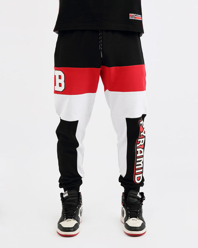 COLLEGE SPORT JOGGERS-COLOR: BLACK