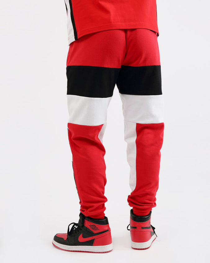 COLLEGE SPORT JOGGERS-COLOR: RED