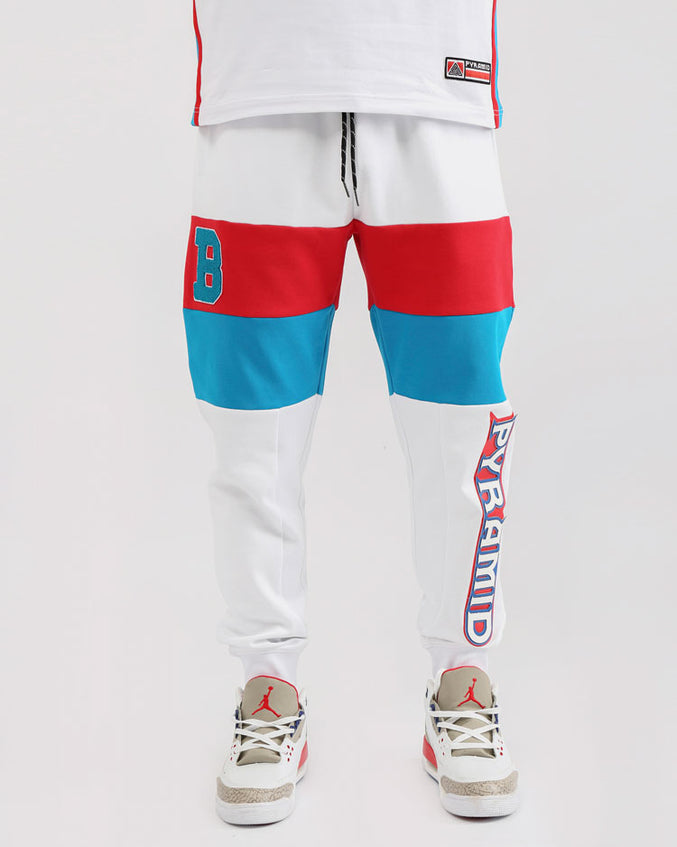 COLLEGE SPORT JOGGERS-COLOR: WHITE