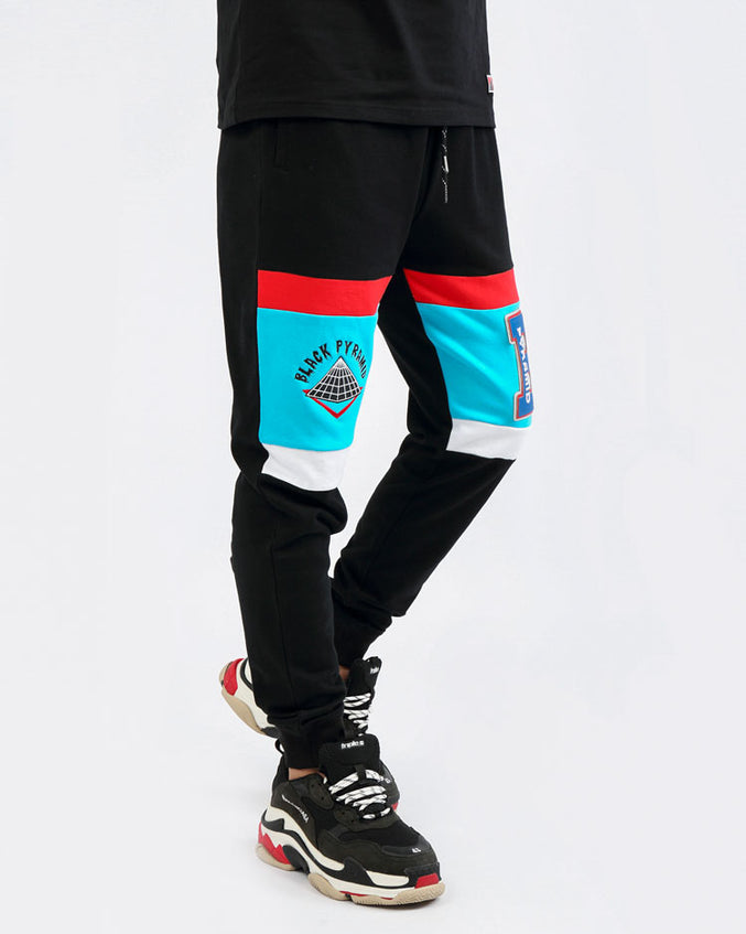 COLLEGE HOME JOGGERS-COLOR: BLACK