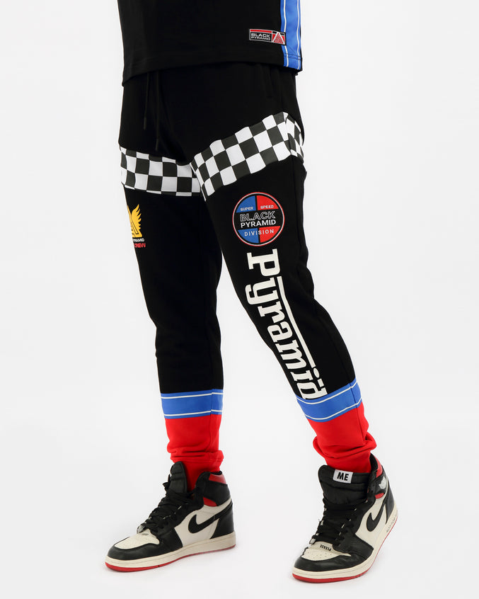VINTAGE SPEED RACER JOGGER-COLOR: BLACK