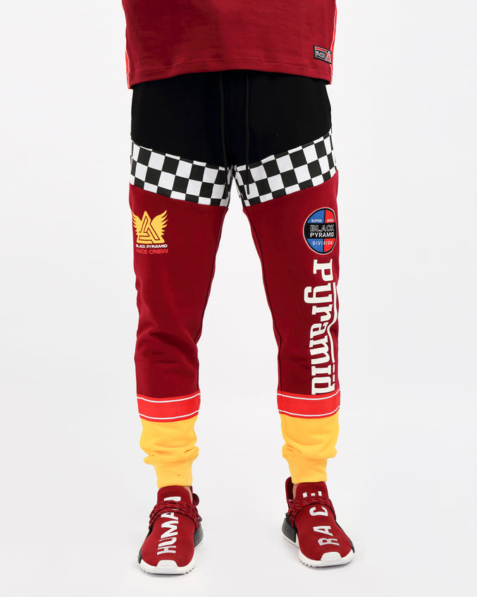 VINTAGE SPEED RACER JOGGER-COLOR:RED