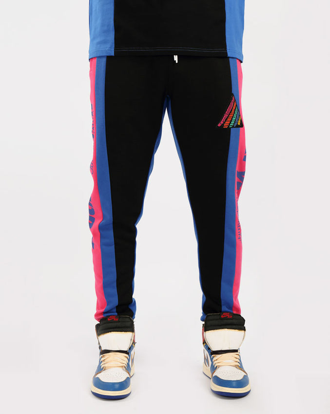 PAINT STREAKS OHB JOGGERS-COLOR: BLACK